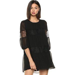 BCBGeneration Women's Lace Insert dress, black xs